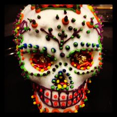 Mexican sugar skulls created for Dia de los Muertos.  It's an entire art form that is slowly disappearing.