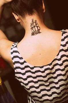 ship tattoo! Freaking love it!