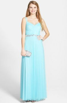 Speechless+Embellished+Pleated+Tulle+Gown+(Juniors)+available+at+#Nordstrom