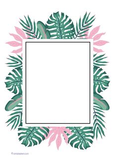 Summer Leaf Writing Frame – use this for drawing a portrait, painting or any type of mark making. A great quick printable to use in the classroom. An Early Years (EYFS) and Primary School printable teaching resource. Flower Background Wallpaper, Framed Wallpaper, Flower Backgrounds, Wallpaper Backgrounds, Iphone Wallpaper, Screen Wallpaper, Wallpaper Quotes, Frame Floral, Flower Frame