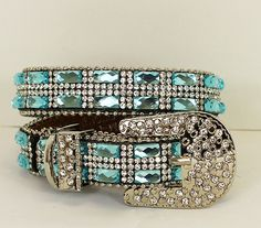 Cowgirl Bling Ranch, LLC - Rhinestone Bling Dog Collar Blue, $23.99 (http://www.cowgirlblingranch.com/rhinestone-bling-dog-collar-blue/)