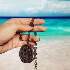 Tropical Oreo Lucky Pendant with a view  order yours here ---> www.cukibags.com