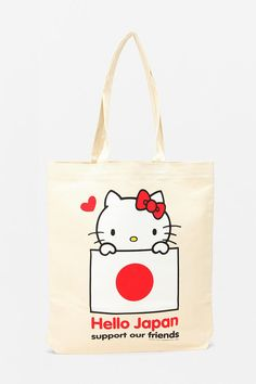@Audra Harris Frick Hello Kitty Japan Relief Tote Bag $10 - best thing HK ever did! ha.