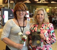 Together with Carolyn, store manager, at Barnes & Noble Bookseller in Woodmere, OH for my May 9 2015 Traveling Left of Center book signing!