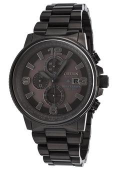 Citizen Men's Nighthawk Chrono Black Ion Plated SS Black Dial - Watch CA0295-58E,    #Citizen,    #CA029558E,    #WatchesDressSolar