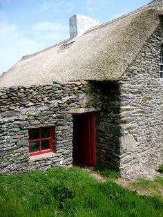 An Irish famine cottage near Dingle on the peninsula. photo - C.TwoFeathers