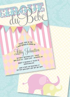 DIY Printable Double Sided Cirque Du Bebe Baby by loralangdesigns, $15.50