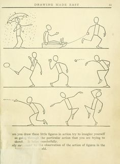 """Motions! Today's Drawing Class 101: Featuring lessons from the 1921 vintage book """"Drawing made easy : a helpful book for young artists"""" by E Lutz 