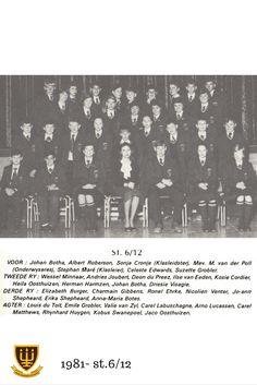 St.6/12 Hoërskool Wesvalia 1981