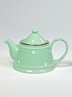 COUNTRY RUSTY GREEN Teapot Teapot, Stoneware, Shabby Chic, Colours, Mugs, Country, Green, Shopping, Collection