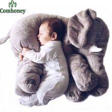 Elefante Travesseiro Almofada de Alimentação do bebê Crianças Quarto de Cama Decoração 53 cm Bebe Cama Berço Assento de…