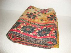 Reversible Kantha Quilt Handmade Bedding 100 by Antiquecollections