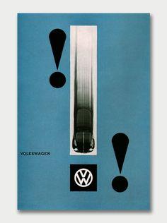 design-is-fine:  Michael Engelmann, poster design for Volkswagen, 1955. Photo: Peter Keetman.