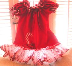 Making these again this Christmas! Christmas little Red  Candy Cane dress for Toddler by janeylaughs