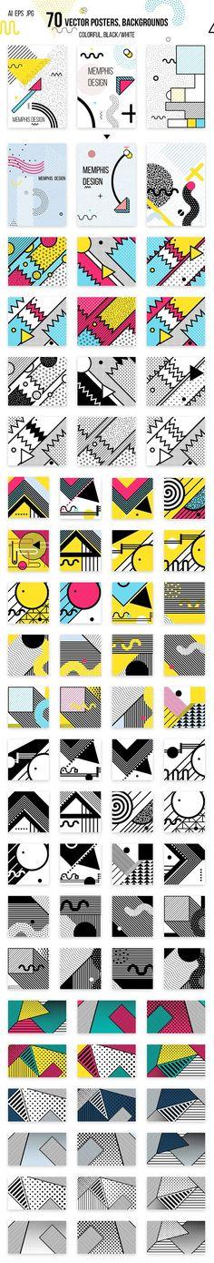 272 patterns, elements MEMPHIS set! - Patterns