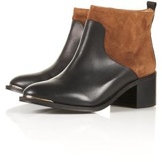 TOPSHOP ALSO Pull On Metal Toe Boots (300 BAM) ❤ liked on Polyvore featuring shoes, boots, flats, tan, flat pumps, slip on boots, tan shoes, flat heel shoes and slip-on shoes