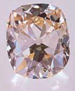 The Star of the South Diamond - light pinkish brown cushion-cut stone from Brazil - 128.42 cts - now owned by Cartier