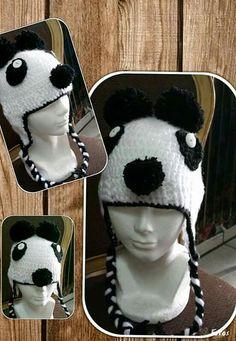 Gorro de panda tejido Eyes, Beauty, Beanies, Tejidos, Art, Beauty Illustration, Cat Eyes