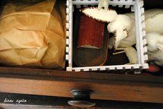 living room. black walnut cupboard detail. drawer 2.