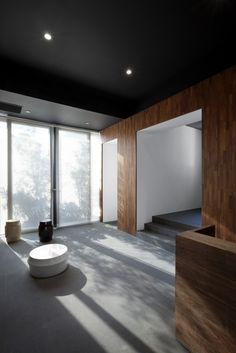Image 10 of 19 from gallery of The Black Box / Neri&Hu Design and Research Office. Photograph by Tuomas Uusheimo Neri And Hu, Lobby Reception, Black Box, Interior Inspiration, Minimalism, Interior Design, Gallery, Furniture, Home Decor