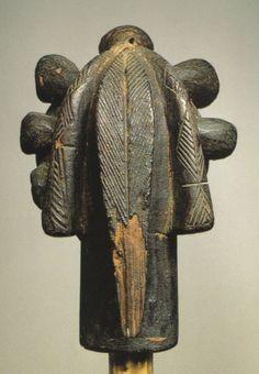 Fang Nlo-Byeri head (back)  Reliquary Guardian Gabon, Fang Wood, height 29 cm…