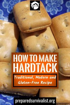 How To Make Hardtack: Traditional, Modern and Gluten-Free Recipe - How to make hardtack – During the civil war hardtack was a popular survival food to keep soldiers - Emergency Food, Survival Food, Outdoor Survival, Survival Prepping, Survival Skills, Wilderness Survival, Survival Quotes, Survival Hacks, Emergency Preparedness