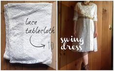 Bread and Roses Vintage: Winning at Sewing: DIY Lace Tablecloth Dress