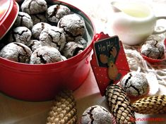 Fursecuri cu ciocolata ( Crinkles) Blueberry, Fruit, Breakfast, Desserts, Food, Cakes, Morning Coffee, Tailgate Desserts, Berry