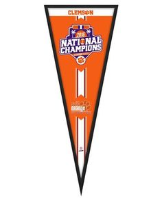 Clemson Tigers 2016 National Champions -13 x 33 Glassless Framed Pennant