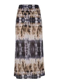 Neutral tie dye print maxi skirt - maurices.com