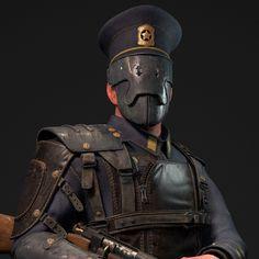 Steampunk Police Officer , Evozon Game Studio on ArtStation at https://www.artstation.com/artwork/n1JEK