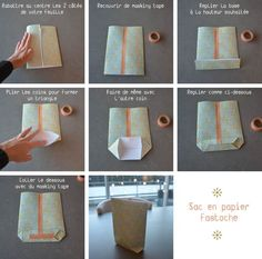 tuto sac papier                                                                                                                                                                                 Plus Diy For Kids, Crafts For Kids, Diy And Crafts, Paper Crafts, Present Wrapping, Origami, Christmas Gifts, Place Card Holders, Handmade