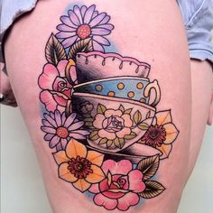 Maybe I'll dedicate an arm to tea - related ink. The most elaborate, delicate, tea set ink.