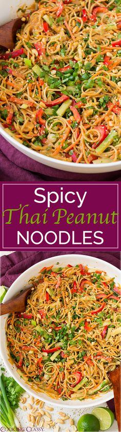 Spicy Thai Peanut Noodles - once you try these you will CRAVE them all the time! Easy to make and I love everything about them!