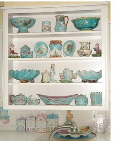 Celebrate turquoise! English and European table wares.