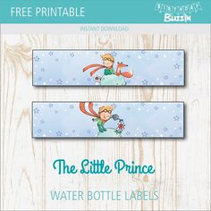 Use these free printable Little Prince water bottle labels to add a unique touch to the Little Prince themed birthday party. The Little Prince Theme, Little Prince Party, Prince Birthday Theme, Birthday Party Themes, Party Printables, Free Printables, Water Bottle Labels, French Quotes, Spanish Quotes