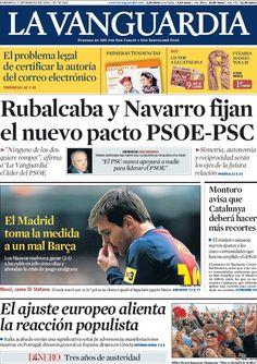 Los Titulares y Portadas de Noticias Destacadas Españolas del 3 de Marzo de 2013 del Diario La Vanguardia ¿Que le parecio esta Portada de este Diario Español?