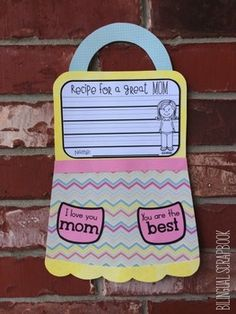 Recipe for a Great Mom {Mother's Day Craft in English and Spanish} Sweet apron for Mother's Day