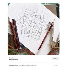 Islamic Art Pattern, Arabic Pattern, Pattern Art, Pattern Design, Alpona Design, Islamic World, Geometric Art, Tiles, Mosaic