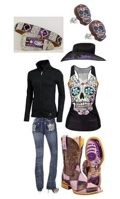 """Barrel Jackpot"" by barrel-aesthetic ❤ liked on Polyvore featuring Miss Me, Under Armour and Punky Pins"
