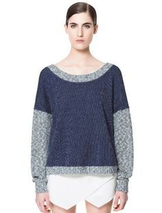 a24b1fb0d5 COMBINATION SWEATER WITH LACE | Zara | Get It | Zara, Lace ...