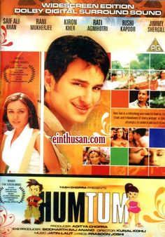 Hum Tum Hindi Movie Online - Saif Ali Khan, Rani Mukerji, Kirron Kher and Rati Agnihotri. Directed by Kunal Kohli. Music by Jatin-Lalit. 2004[U] Blu-Ray w.eng.subs
