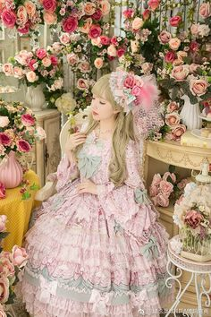 微博 Harajuku Fashion, Japan Fashion, Kawaii Fashion, Lolita Fashion, Quirky Fashion, Cute Fashion, Fashion Art, Estilo Lolita, Mode Lolita
