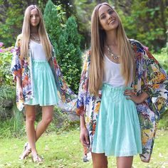 In Love With Fashion Kimono, Front Row Shop Skirt