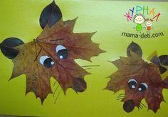 Поделки из осенних листьев | Детские поделки