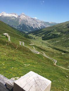 The windings at the Splügen Pass