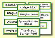 Australian themed display words