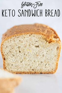 If you& looking for your new go-to gluten-free and keto sandwich bread recipe, this is the one! It& extra soft with a light and tender crumb, has a slight crust, and is not eggy or crumbly! Fat Free Bread Recipe, Thm Bread Recipe, Grain Free Bread, Sandwich Bread Recipes, Healthy Bread Recipes, Banting Recipes, Lowest Carb Bread Recipe, Low Carb Bread, Low Carb Recipes