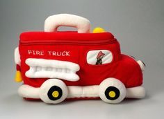Baby Gund Fire Truck Playset Zippered Carry Along Plush Soft Toy Stuffed Animal #GUND