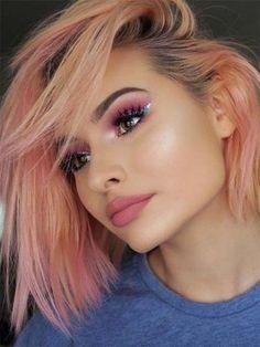 Best Hair Pastel Color Eye Makeup Ideas